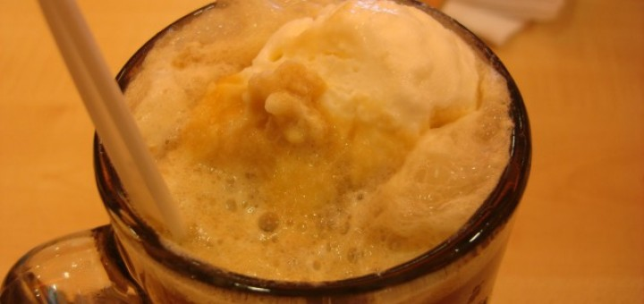 A&W Root Beer with ice cream