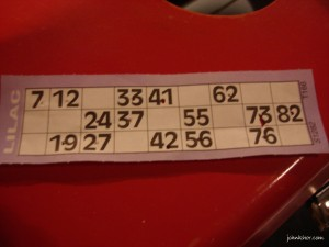 The Jackpot Bingo winning ticket!