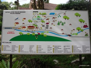 Map of Taman Rimba Teluk Bahang Penang
