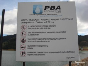 Some information of Teluk Bahang Dam Penang