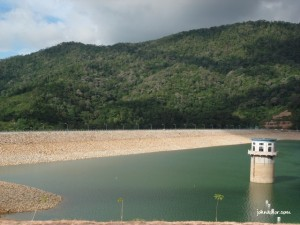 I am inside of Teluk Bahang Dam Penang