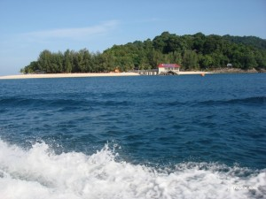 On the way to open sea snorkeling site, Mak Simpang @ Redang Island