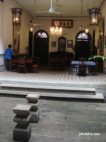 The courtyard of Cheong Fatt Sze Mansion