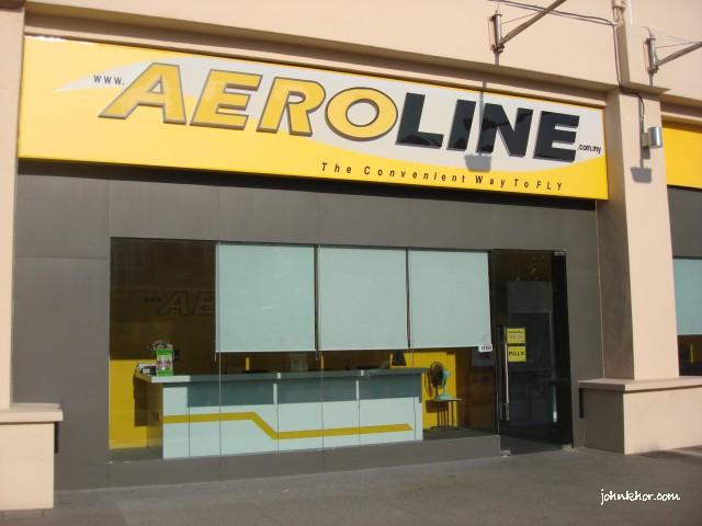 Aeroline office @ Queensbay Mall Penang