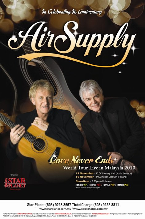 Air Supply 2010 Concert In Penang, Malaysia