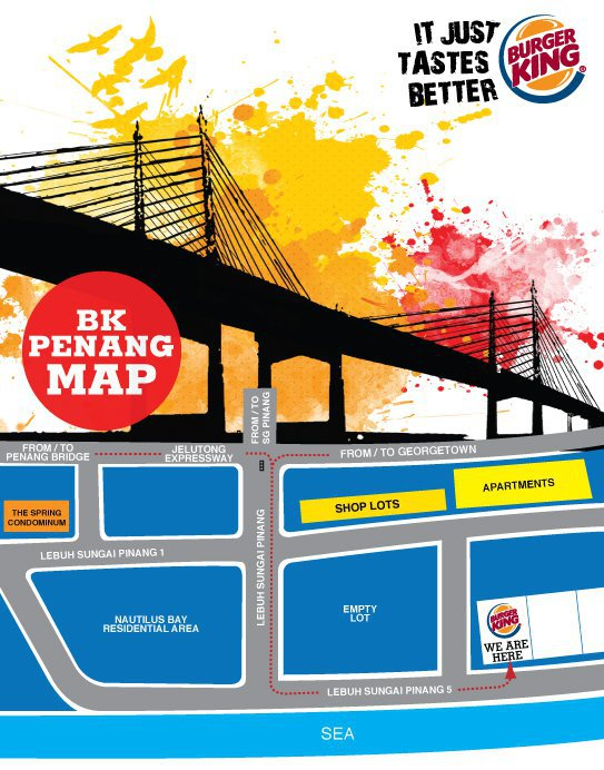Burger King Promenade 28 Jelutong Penang Map