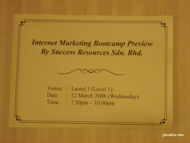 Fabian Lim Internet Marketing Bootcamp Preview by Success Resources