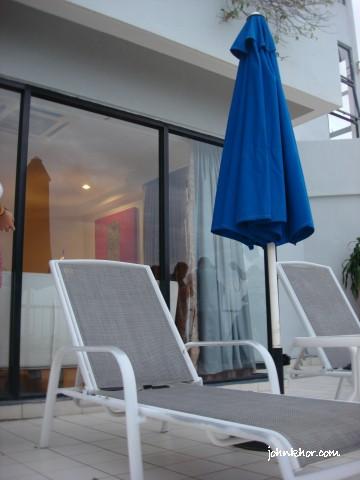 Spacious Balcony of VIP Studio Suite @ Hydro Hotel, Miami Beach, Penang