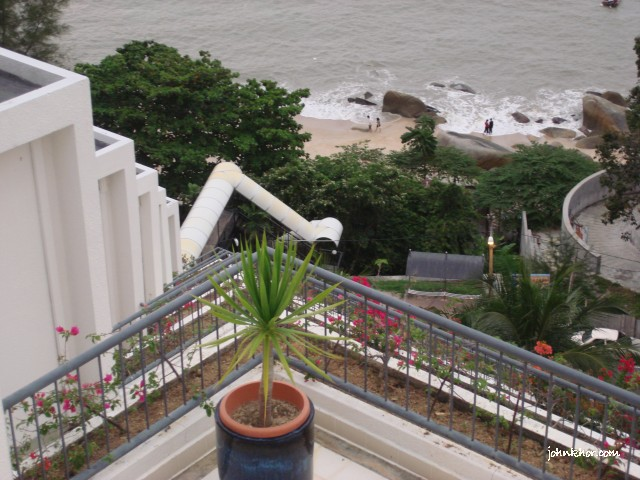Views from the balcony of VIP Studio Suite @ Hydro Hotel, Miami Beach, Penang