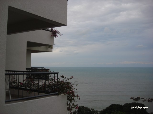 Outside view from the hotel room @ Hydro Hotel, Batu Ferringhi, Penang