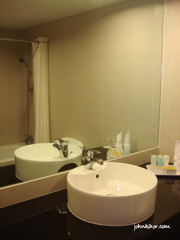 Inisde of the washroom @ Hydro Hotel, Miami Beach, Penang