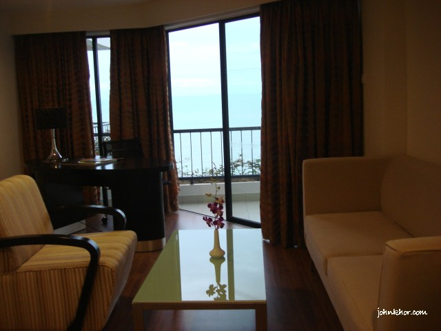 Sofas in VIP Studio Suite @ Hydro Hotel, Miami Beach, Penang