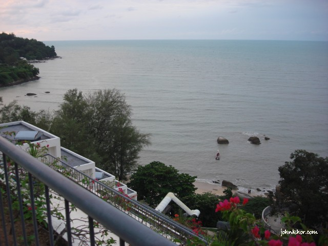 View from  balcony of VIP Studio Suite @ Hydro Hotel, Miami Beach, Penang