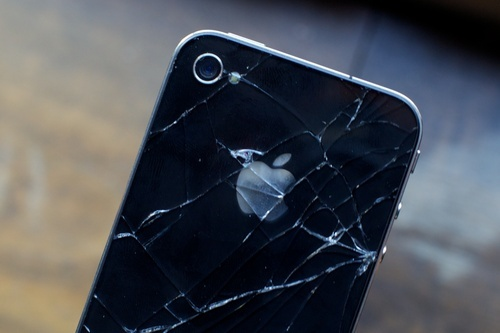 iPhone 4 Glass Casing Cracked