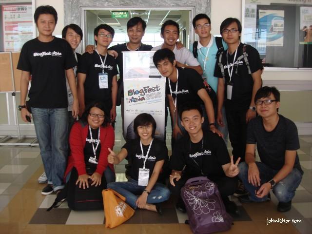 Myanmar, Phillipines, Vietnam & Penang friends @ Blogfest Asia 2010