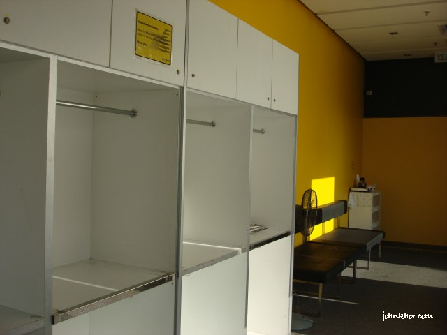 Place to put your luggage @ Aeroline Penang Service Center