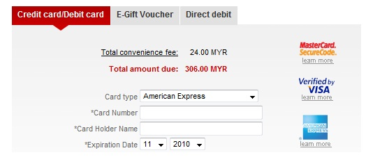 AirAsia Convenience Fees