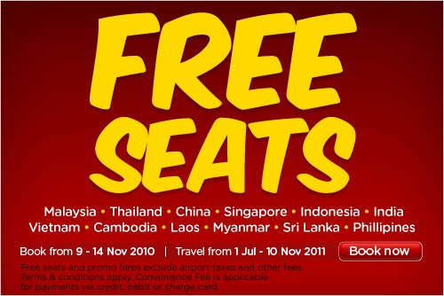 AirAsia Free Seats Nov 2010