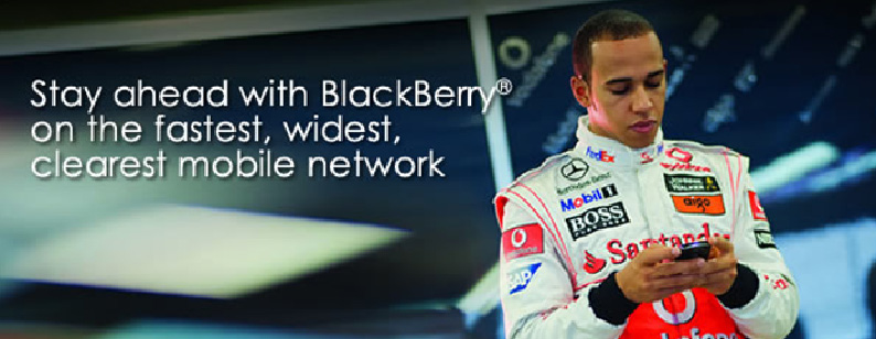 Celcom Blackberry Torch 9800 Promotion with Lewis Hamilton
