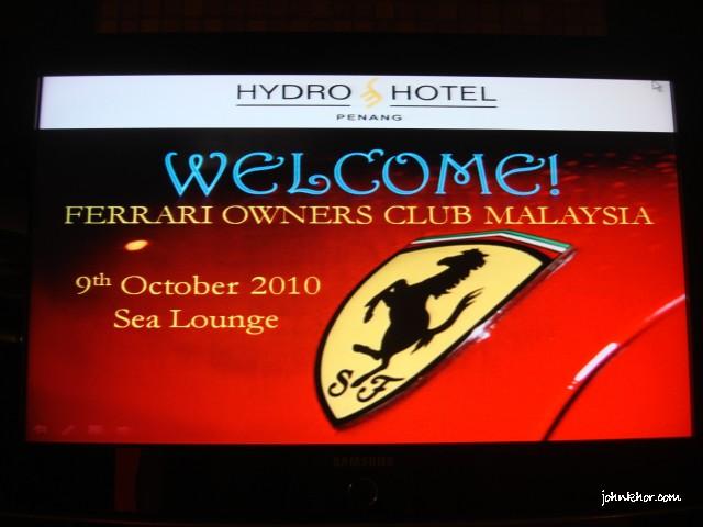 Ferrari Owners Club Malaysia @ Sea Lounge, Hydro Hotel Penang 1