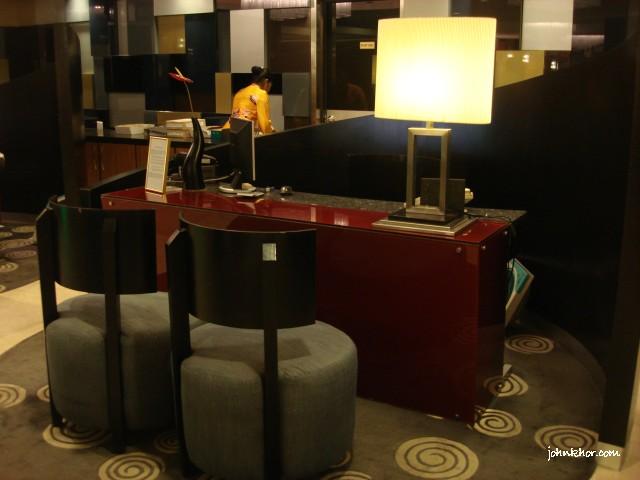 Private reception desk @ Hydro Hotel, Batu Ferringhi, Penang