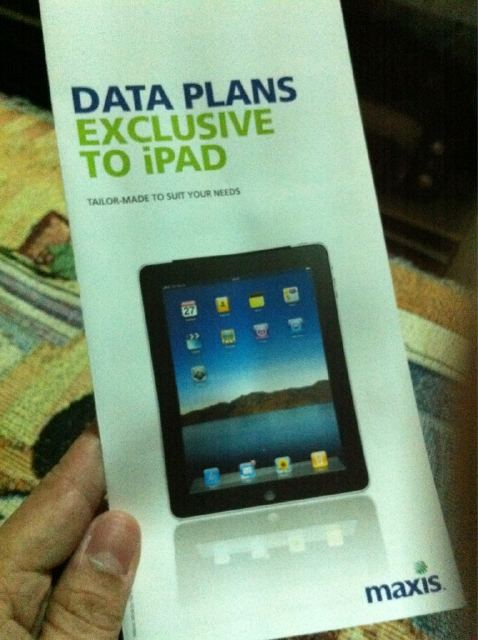 Maxis exclusive iPad data plan