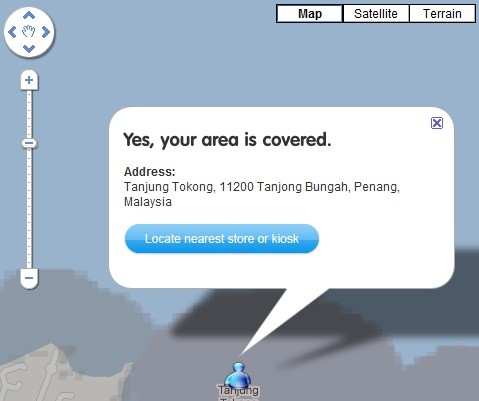 Tanjung Tokong Penang Coverage by YES 4G
