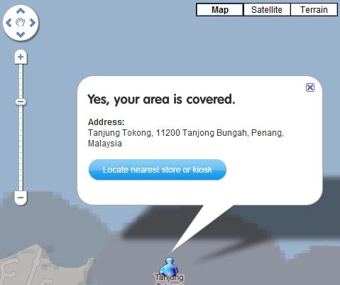 Tanjung Tokong Penang Coverage by YES 4G