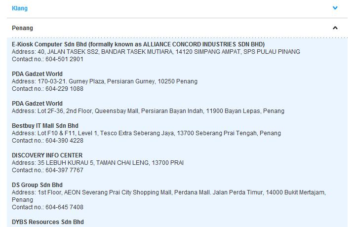 List of YES 4G Resellers in Penang & Mainland