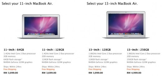 "MacBook Air 11"" inch & 13"" inch price"