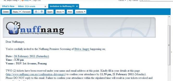 Nuffnang Premiere Screening Drive Angry @ TGV Cinemas, 1st Avenue, Penang
