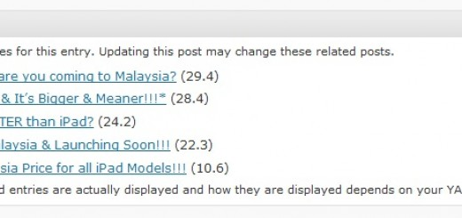Snap shot of Yet Another Related Posts Plugin (YARPP)