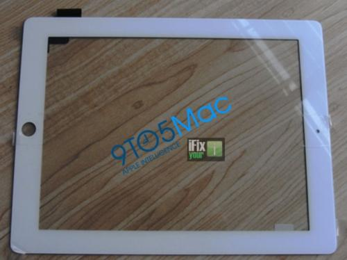 White iPad 2 front bezel