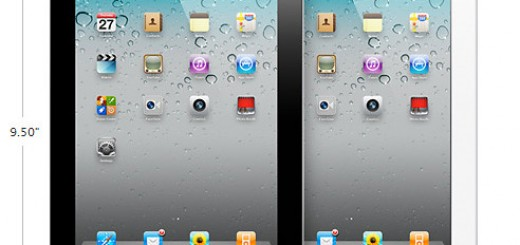 Black & white iPad 2 size