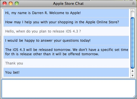 iOS 4.3 Release Date Chat