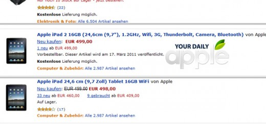 iPad 2 Amazon Germany listing rumor