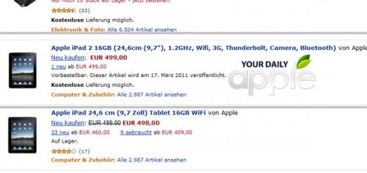 iPad 2 Amazon Germany listing rumor