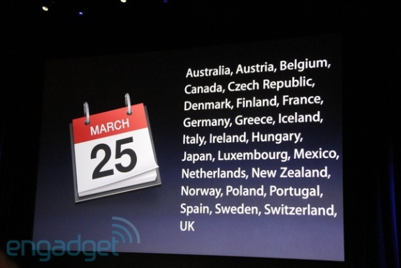 iPad 2 launch countries