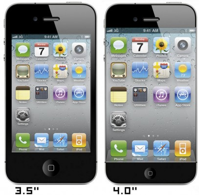 iPhone 5 thinner bezel design