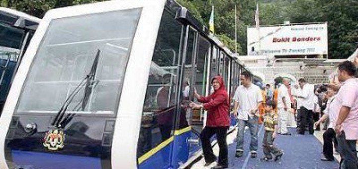 Penang Hill's new furnicular train resume service