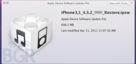 Apple iOS 4.3.2 update