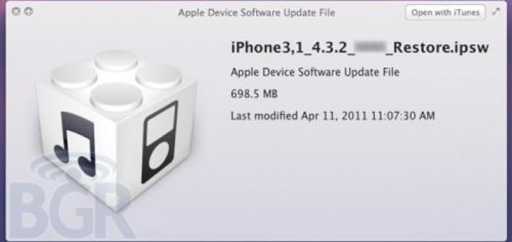 Apple iOS 4.3.2 update