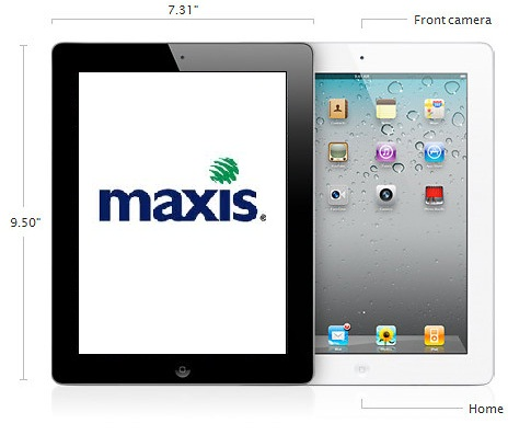 Black & white iPad 2 size @ Maxis