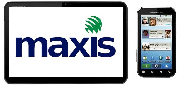 Maxis bundles Motorola Xoom with Motorola Defy