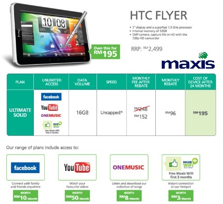 Maxis HTC Flyer Ultimate Solid Plan