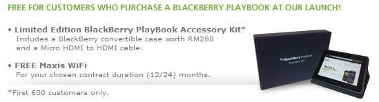 Maxis Blackberry Playbook Plans Special Offer
