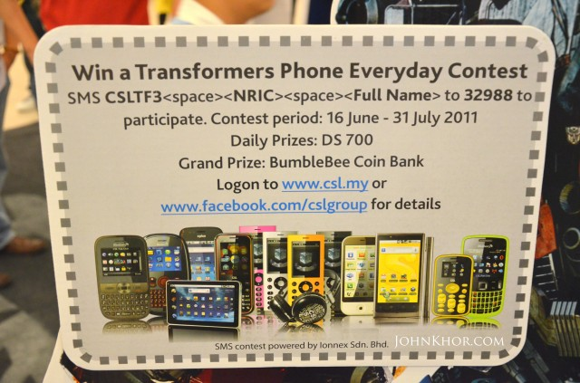 CSL Transformer Phone DS700 Launching Queensbay Mall 6