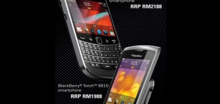 Blackberry Bold 9900 & Blackberry Torch 9810 pricing revealed