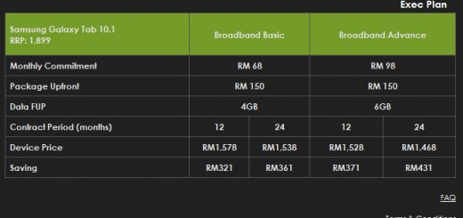 Celcom Official Samsung Galaxy Tab 10.1 inch data plan