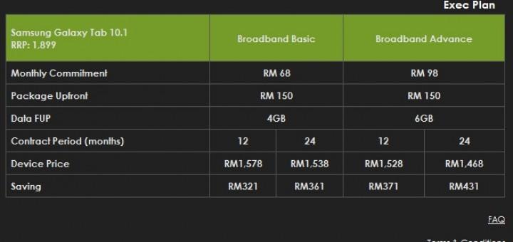 Celcom Official Samsung Galaxy Tab 10.1 inch data plan